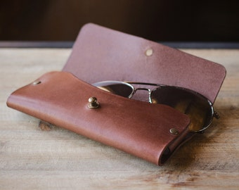 Leather Glasses Case, Leather Case, Sunglasses Leather Case, Glasses Case, Leather