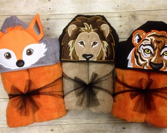 Animal Hooded Towel/ Animal Themed Baby Shower Gift/ Animal Costumes/ Any animal, size infant through school age, can do adult upon request