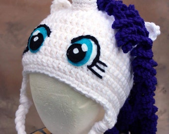 Rarity inspired by MLP my little pony thick winter hat