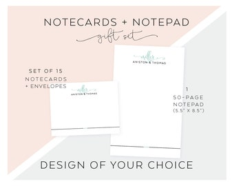 Personalized Notepad + Stationery Gift Set. Personalized Notepad. Personalized Stationery. Notepad. Gift Set. Design of Your Choice.