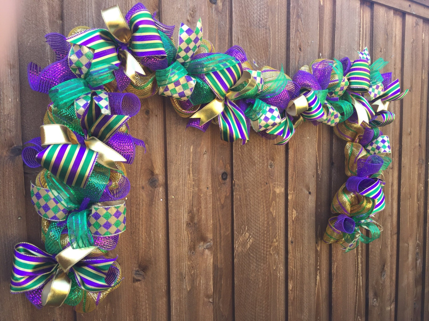 Deco Mesh Mardi Gras Garland Mardi Gras Decor By Lafetedecor