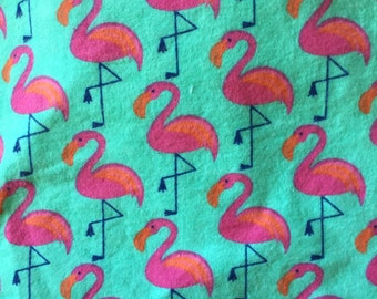 Flamingo  print flannel fitted crib/toddler sheet