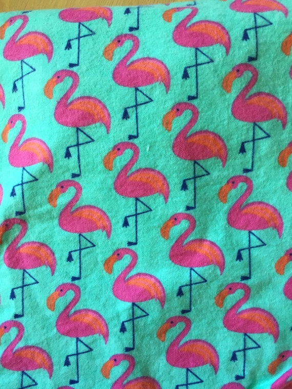 Flamingo Print Flannel Fitted Crib Toddler Sheet