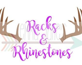 RACKS and RHINESTONES SVG Cut File Digital Download Silhouette Cricut
