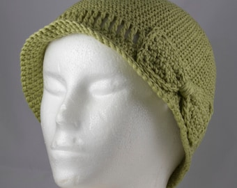 Lightweight Cloche in Celery Green for Cancer Patients