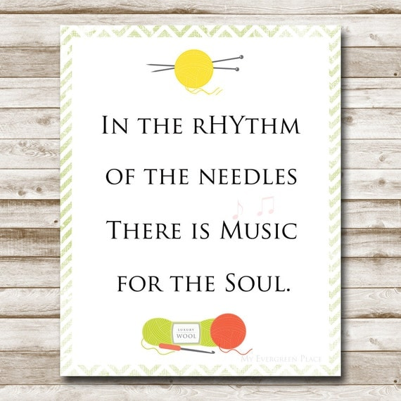 Image result for in the rhythm of the needles there is music for the soul