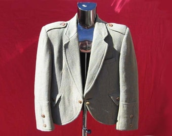 Cropped wool Tyrolean jacket for him or her