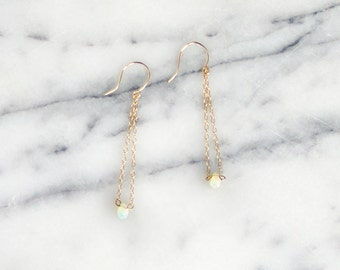 I R I N A  ∙  teardrop opal dangle earrings