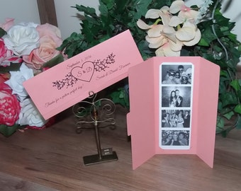 100 Photo Booth Photo Strip Holders Personalized, Color Choice, Laurel
