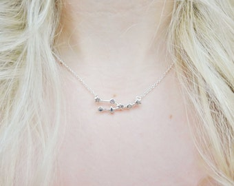 Taurus Constellation Star Sign Zodiac Astrology Space Sci Fi Dainty Silver Pendant Necklace Jewellery Jewelry
