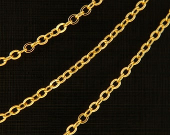 Chain 240SF, Nickel free, CJ01-05, 10m, 16K gold plated copper, Not easily tarnish thanks to special coating, 2x2mm