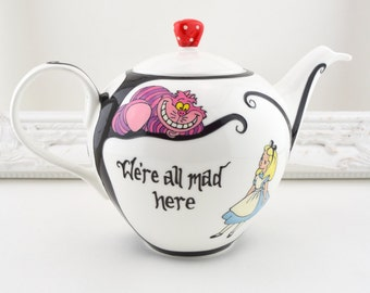 Alice in Wonderland Large Bone China Teapot
