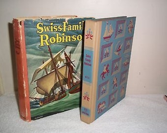1935 Swiss Family Robinson #2131 Whitman HC Book w DJ