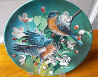 Vintage Bluebird Plate Knowles 1986 Birds of Your Garden Collection
