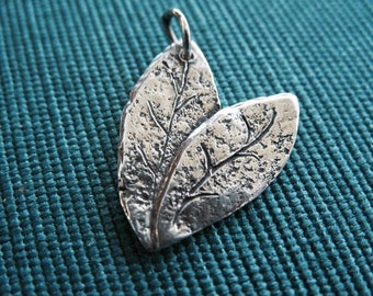 Sterling Silver Cherish  Nature Charm or Pendant