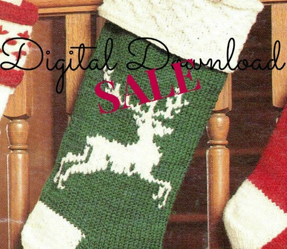 Vintage Christmas Stocking Knitting Pattern : Lighting