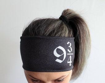 Yoga Headband - Workout Headband - Fitness Headband - Running Headband Boho Headband - Elastic Headband - Platform 9 3/4 Headband Y44
