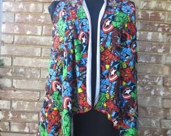 Avenger print vest