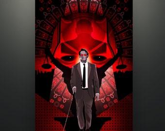 "Daredevil inspired ""Daredevil: Red Defense"" 11X17 Herofied Art Print Netflix Daredevil Matt Murdock Hell's Kitchen Kingpin"