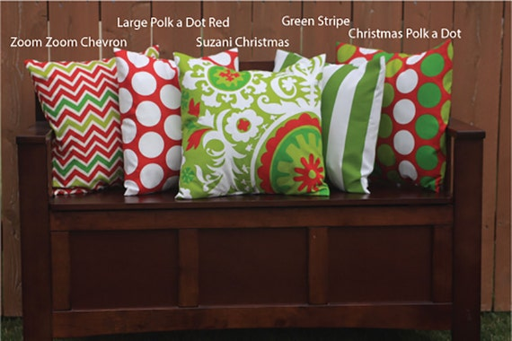 SALE 16x16 Christmas Pillow Covers Envelope Closure