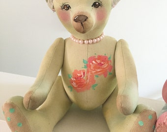 Green teddy bear
