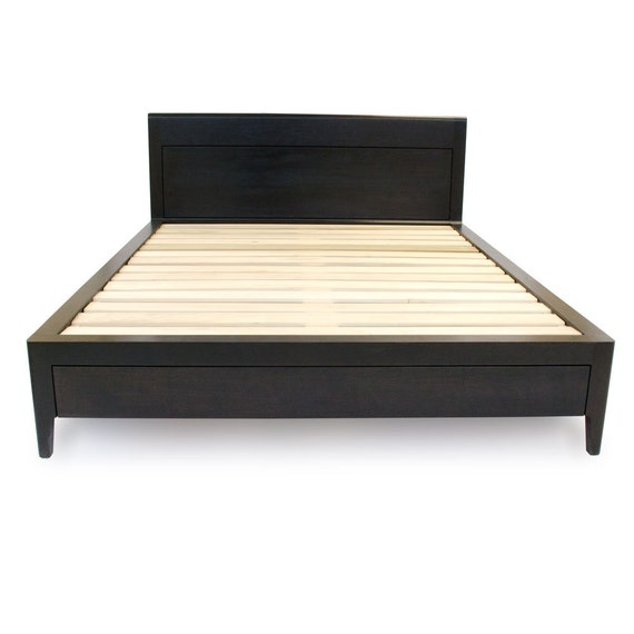 Storage Bed - Platform Bed No. 2 - Modern Wood Bed Frame - Full, Queen ...