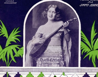 """1926 Sheet Music, """"If I Could Be With You"""""""