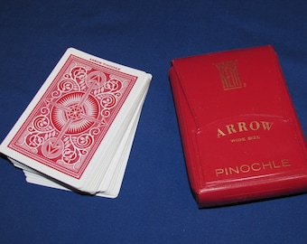 KEM Cards One Deck Pinochle Cards in Red Plastic Case