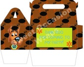 Faux Scooby Doo Gable Party Favor Gift Boxes Set of 12