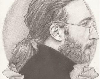 Working Class Hero. John Lennon Inspired Print. Artwork by Jade Jones