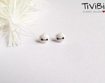 Baymax post earrings