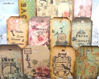 Wedding wish tree tags / labels - Retro Vintage  | Wishing Tree | Love | Chic | Paris | parisienne