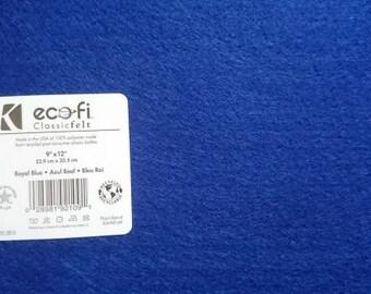 Felt - Royal Blue - Kunin Eco Rainbow Classic Felt Made from Recycled Plastic Bottles Eco-Fi Eco Friendly Recycled Polyester