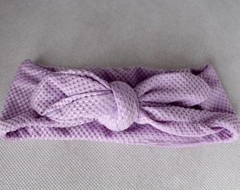 Top Knot Headband Lavender