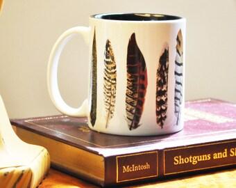 Pheasant Feathers Mug - FREE SHIPPING