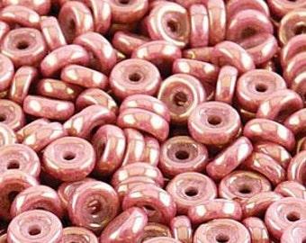 10g Chalk Red Luster Matubo Czech Glass Wheel Beads, 6mm, 80 Beads - Item 3422