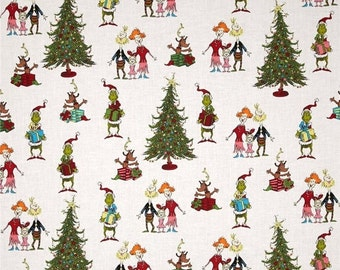 SALE 15% OFF Fabric Dr. Seuss Grinch Christmas Collection - Whoville Grinchmas by Robert Kaufman 100 Percent Quality Cotton