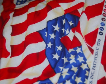 Waving USA Flag Fabric Stars and Stripes by Timeless Treasures - 100% Quality Cotton
