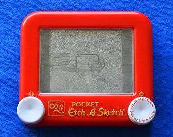 Nyan Cat Etch A Sketch art