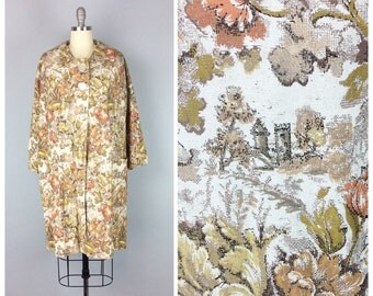 r e s e r v e d /// 60s Autumn Castle Coat / 1960s Vintage Swing Coat Jacket / Large - XL