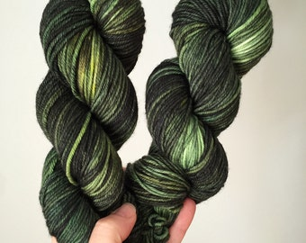 "Hand-Dyed MCN Worsted Yarn ""Haunted"" Merino Wool Cashmere Nylon Worsted Weight Yarn"