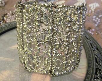 Repurposed Antique Stering Silver Bracelet