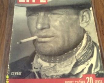 Vintage Life Magazine Cowboy Issue, August 22, 1949, Vintage Life Magazine, 1949 Life Magazine