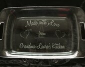 Personalized Engraved Pyrex Baking Dish with Lid