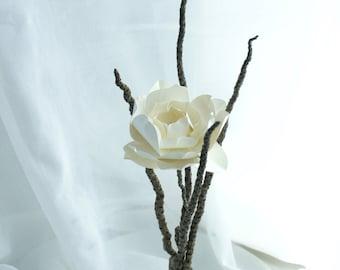 Abstract Paper Gardenia Flower Natural Sculpture