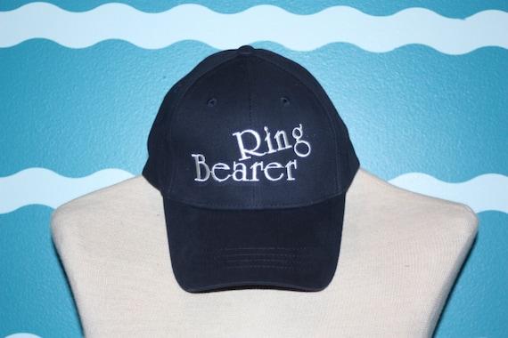 Ring Bearer Baseball Hats - Custom ring Bearer ball cap - Embroidered baseball cap for wedding party - Ring Bearer Gift - Wedding party