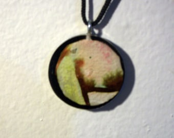 The Mocking Jay Abstract Resin Pendant Necklace Jewelry By J. Eric David Designs