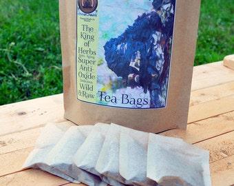 25 Organic chaga mushroom tea bags ready to brew tea instant chaga tea in natural tea bags