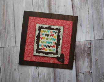 Colourful Hearts card. Special Occassion. Love.