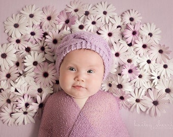 Lilac Newborn Hat, Baby Girl Hat, Knit Girl Beanie, Cable Baby Hat, Baby Hats Girls, Hospital Girl Hat, Newborn Baby Outfit,Baby Girl Outfit